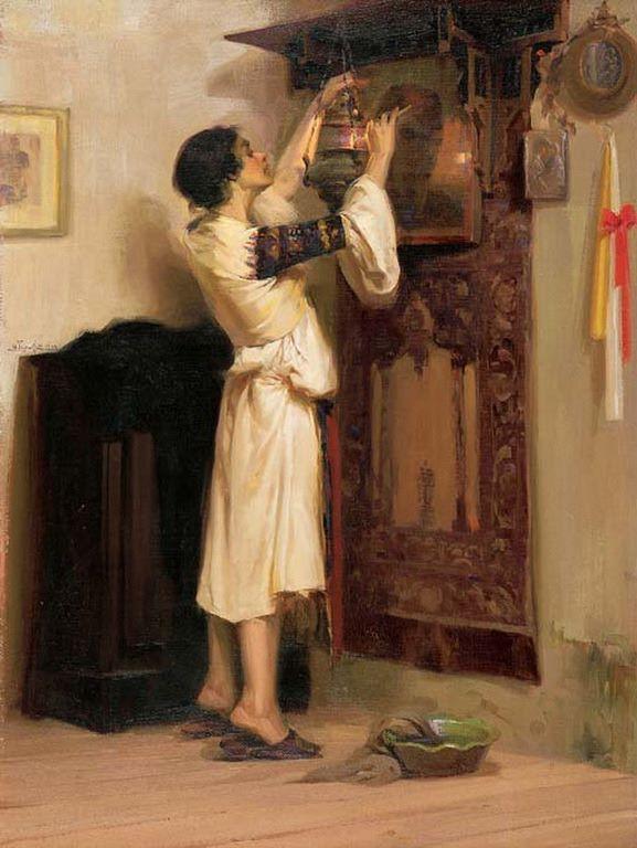 Απόστολος Γεραλής - Το άναμμα του καντηλιού