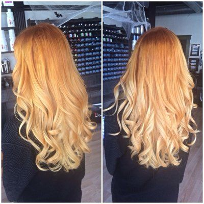 Copper to strawberry blonde ombre … Read More Hair ideas