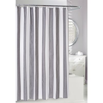 Moda at Home Sophisticates Polyester Striped Neutrals Striped Shower Curtain