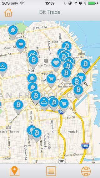 BitScan's free mobile app for android + ios can help you find bitcoin accepting merchants near you.
