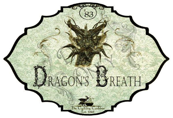 The Cackling Cauldron ~ Dragon's Breath Label