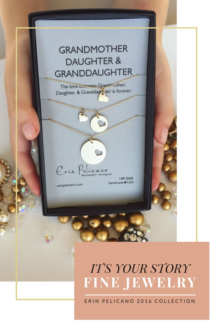 Gold Jewelry, Mother Daughter Jewelry, Christmas for Mom, Ultimate gifts for Her