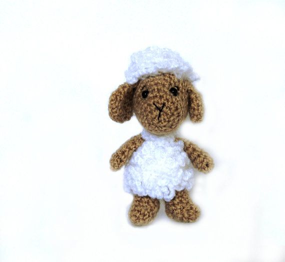 crochet sheep amigurumi sheep miniature by tinyworldbycrochAndi