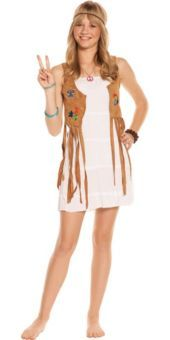 Hippie Halloween Costume Girls M L Medium Large Tween Flower Child Retro  sc 1 st  Pinterest & 20 best 20th Century Retro - Childrenu0027s Costumes images on Pinterest ...