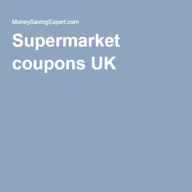 Supermarket coupons UK
