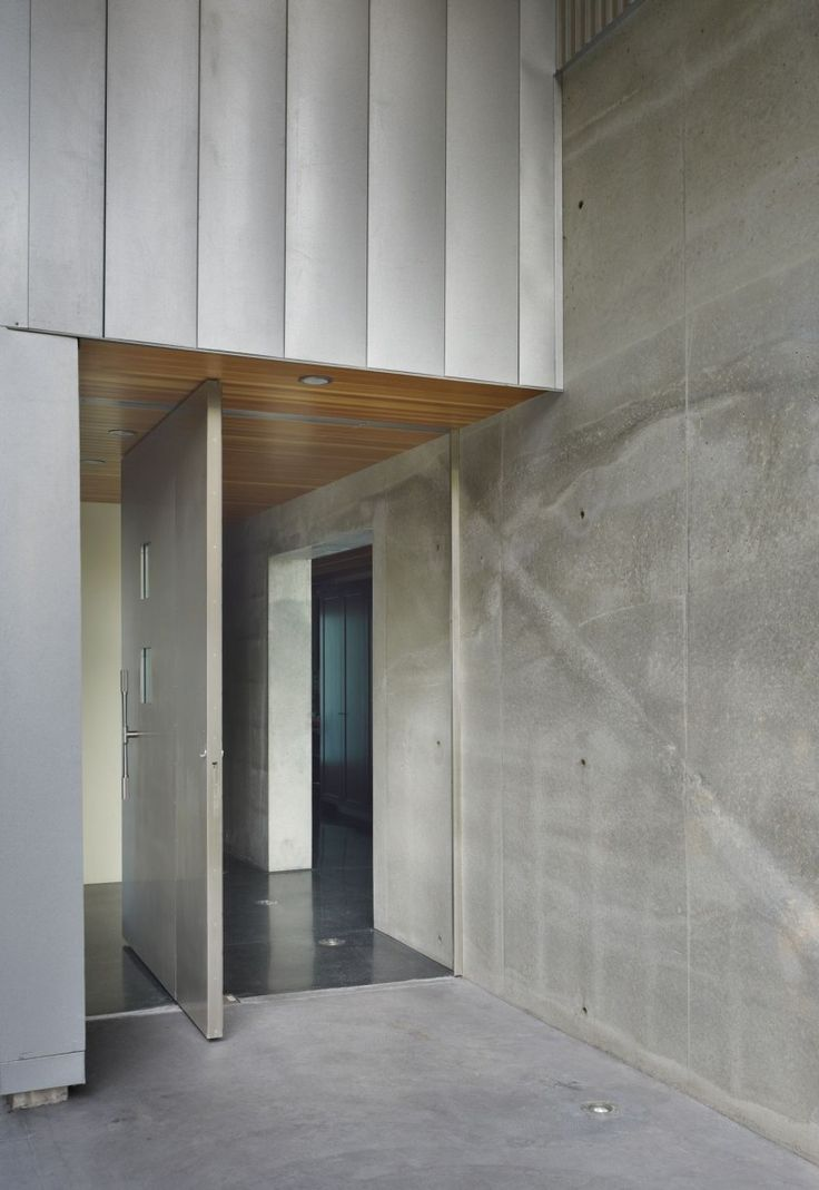 Modern interior doors seattle - Entrance Pivot Door Detail When Opened Of A Residential House In West Seattle