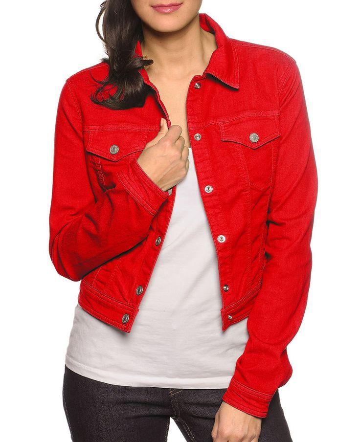 BENETTON Red Denim Jacket