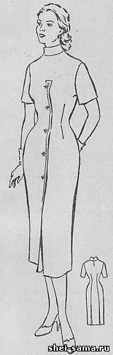 Платье с оригинальной застежкой впереди - Сто фасонов женского платья  - Всё о шитье