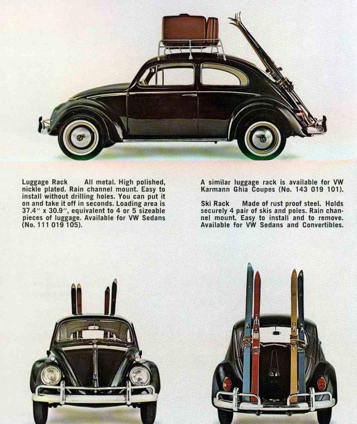 vintage VW ski rack