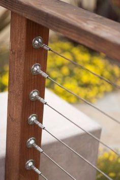 Cable railing. Choose the cable end fittings you like best.