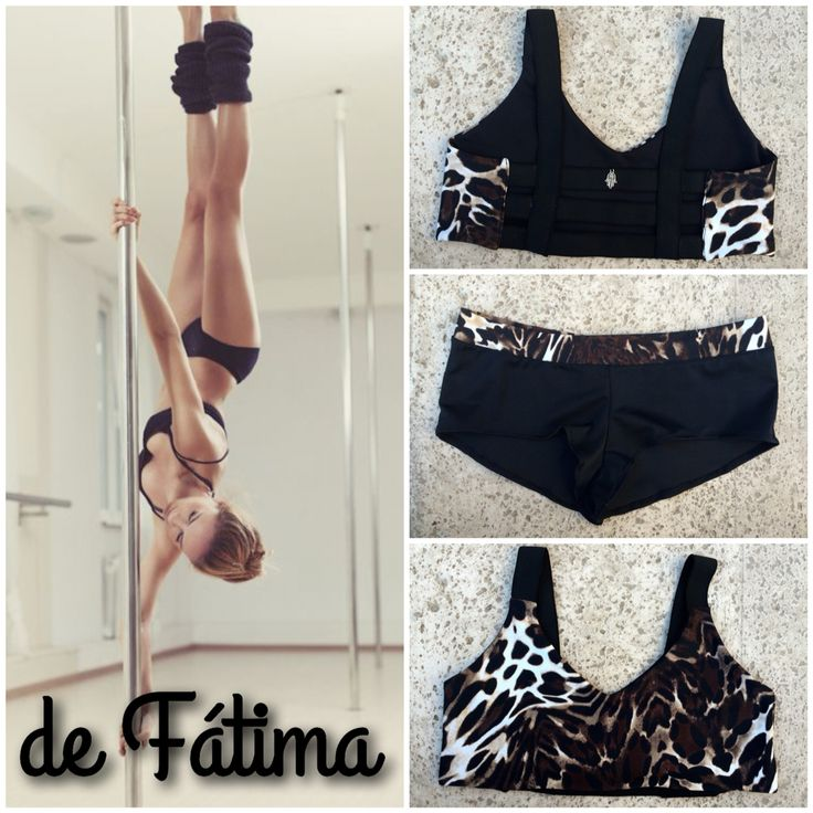 Top y Calzas PoleDance LeopardPrint