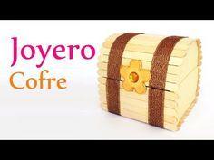 """Manualidades: JOYERO """"Cofre"""" con Palitos de Helado (palos de paleta) - Innova Manualidades - YouTube"""