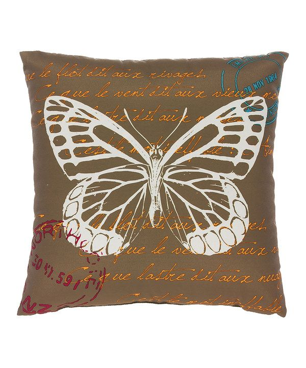 Throw Pillows With Butterfly : Look at this Brown Butterfly Indoor/Outdoor Throw Pillow on #zulily today! Zulily Finds ...