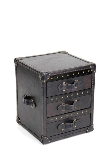Leather Nightstand -