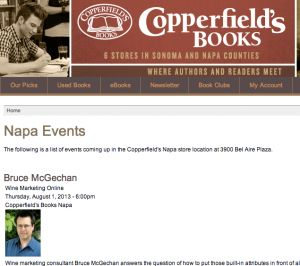 Wine Marketing Online Book Launch 1 August, 2013. Speech Notes: tails, dates & hypnosis.