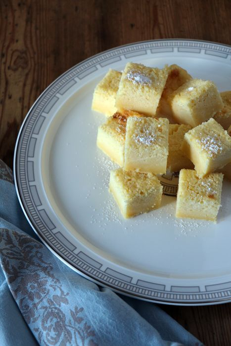 Zitronen-Zauberkuchen - Pudding Schicht mit leckerem Zitronen-Geschmack