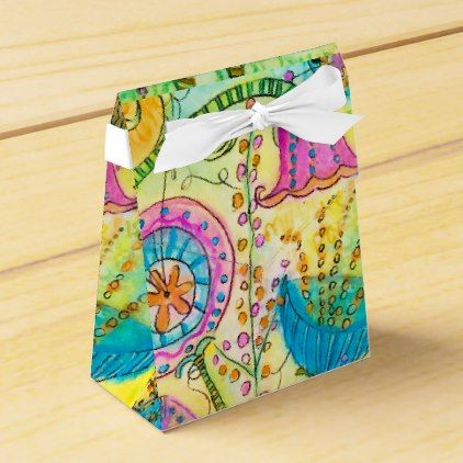 Quirky Garden Party Floral Treat Favor Box - party gifts gift ideas diy customize