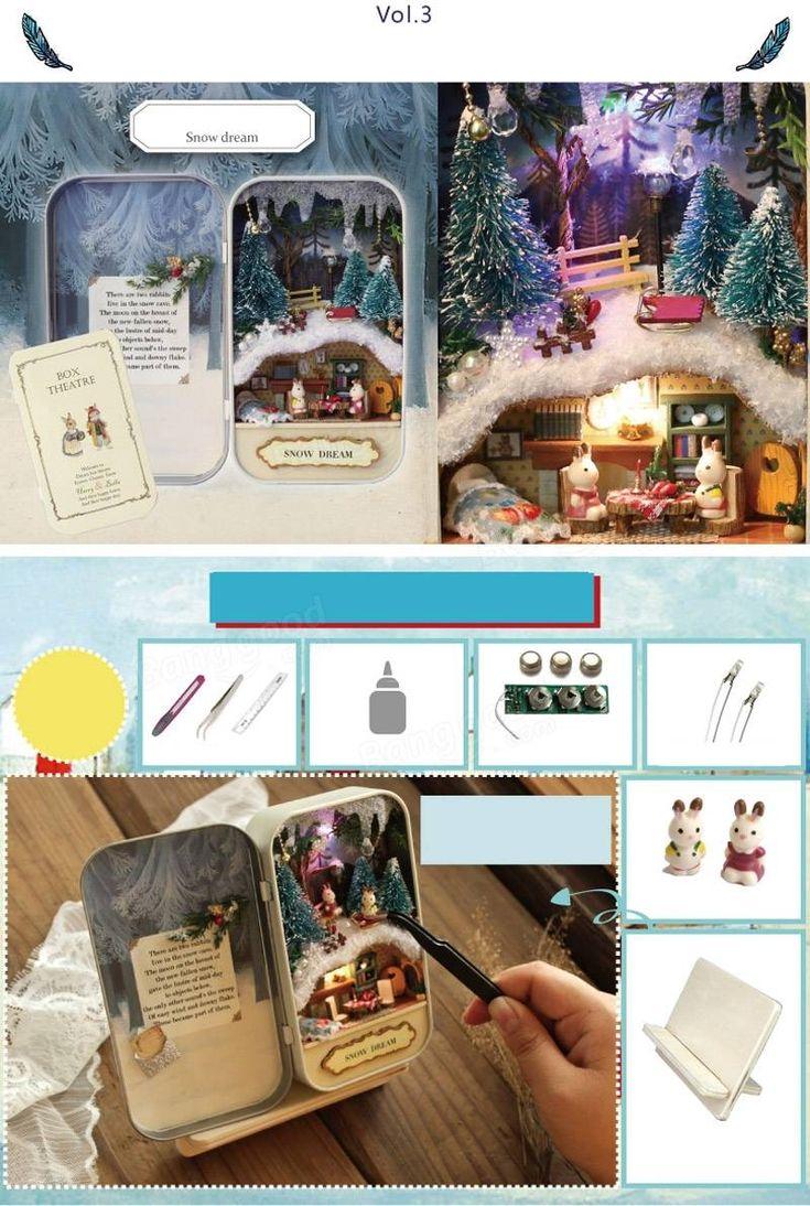 Cuteroom DIY Dollhouse Miniature LED Light Box Theatre Gift Decor Collection Sale - Banggood Mobile