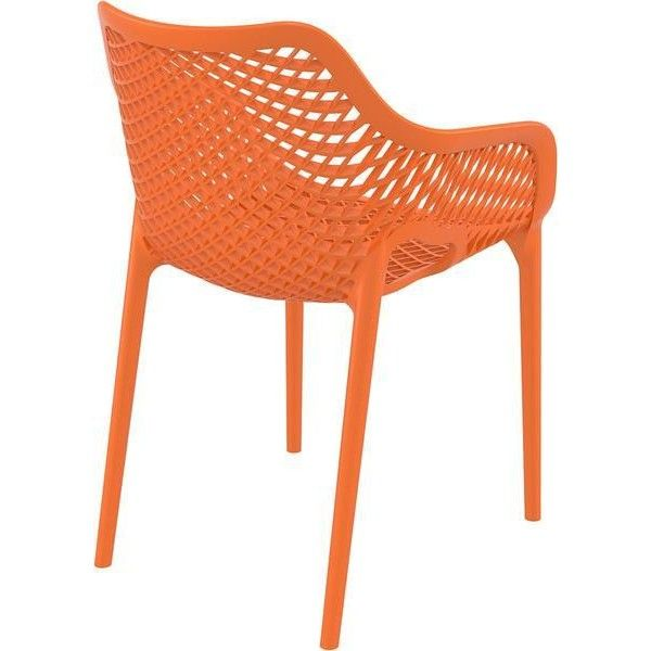 Air XL Outdoor Dining Arm Chair Orange (Set of 2) (1.805 DKK) ❤ liked on Polyvore featuring home, outdoors, patio furniture, outdoor chairs, outside patio furniture, orange patio furniture, orange outdoor furniture, outdoor armchair and orange patio chairs