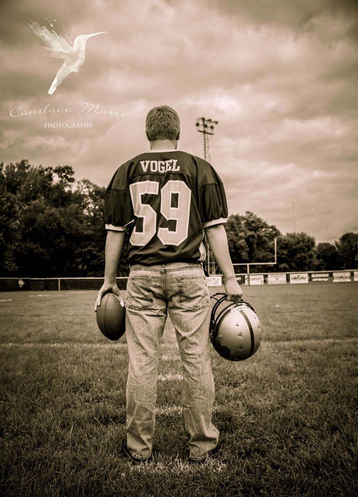Senior Picture Ideas For Guys Football | Senior guy photography, football