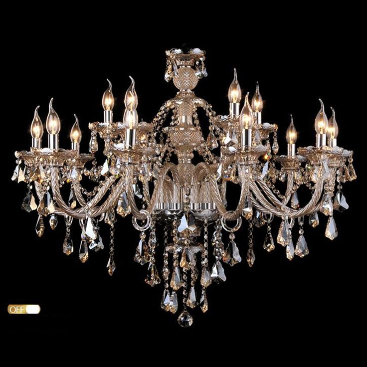 Buy Ceiling Lights Chandelier Crystal Cognac Color Luxury Modern 2 Tiers Living 15 Lights(Dance Of Romance) with Lowest Price and Top Service!