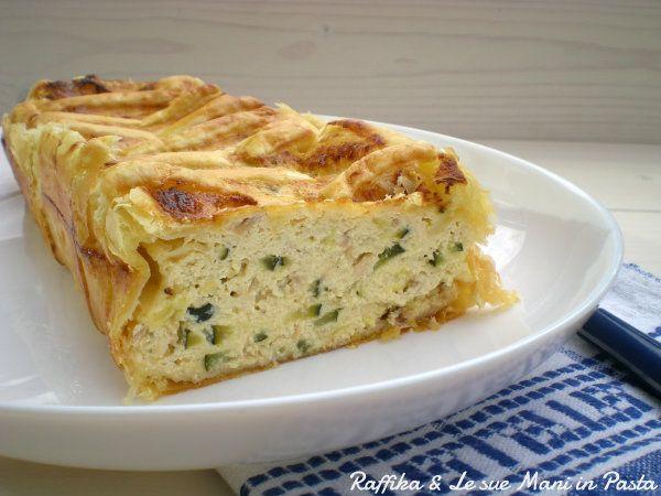 Torta salata zucchine e tonno