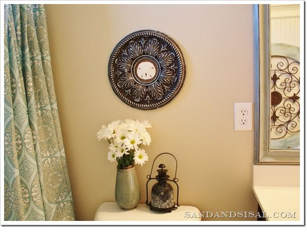 Ceiling Medallion Wall Art   - Sand Dollar in middle