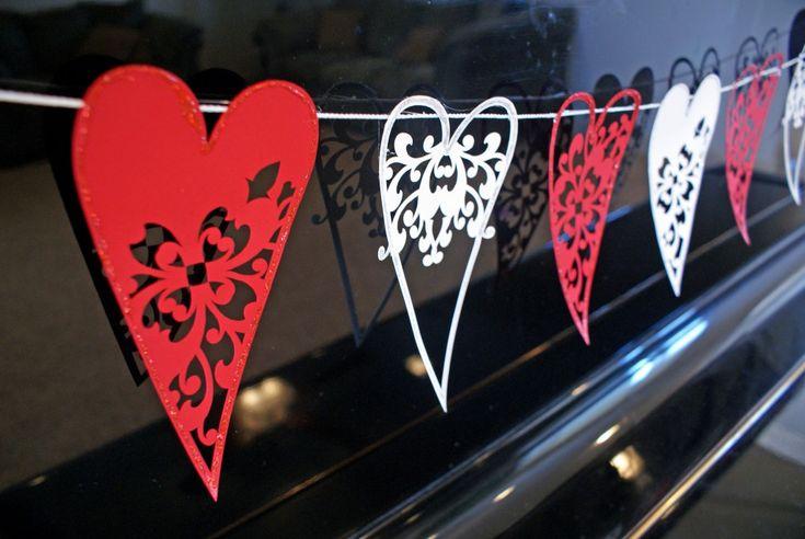 Valentines Day Banners: Valentines Crafts, Saint Valentines, Valentines Ideas, Valentines Stuff, Valentines 39, Valentines Day, Cut Paper, Paper Crafts, Valentines 8217