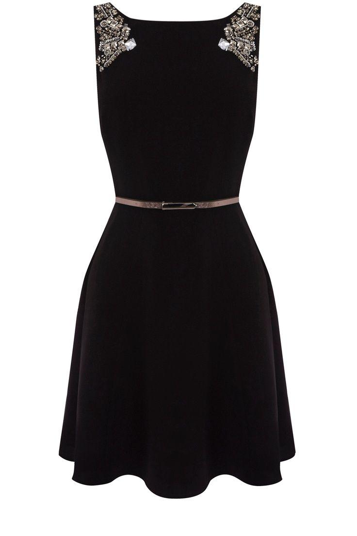 Oasis Clothing | Black Embellished Dress