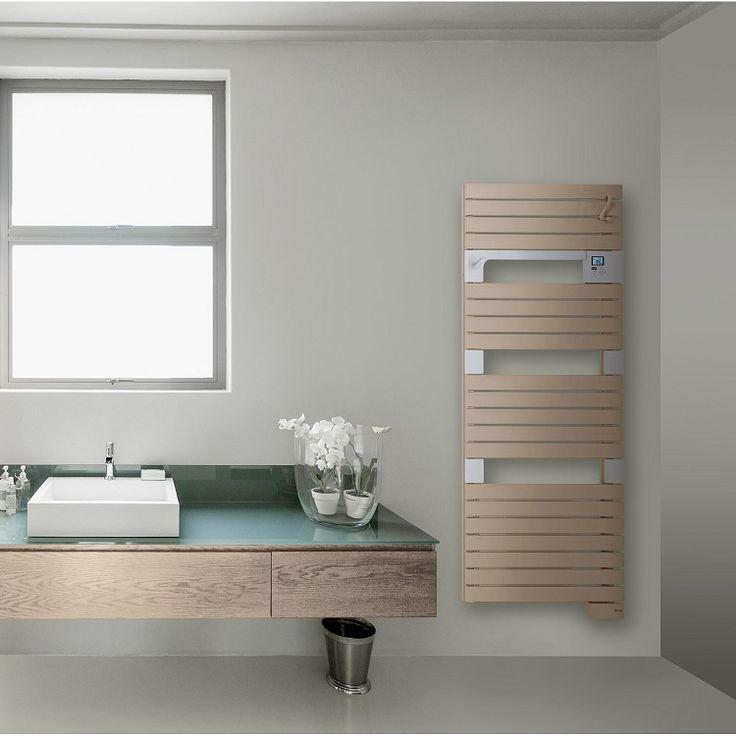 Sèche-serviettes électrique avec soufflerie SAUTER Asama Cappuccino 750+1000 W - Leroy Merlin