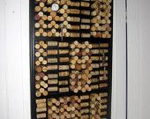 Large Corkboard, Oversized Message Station, Upcycled Printers Drawer and Wine Corks