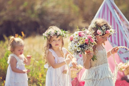 Teepees & Sweetpeas Flower Girl Inspiration