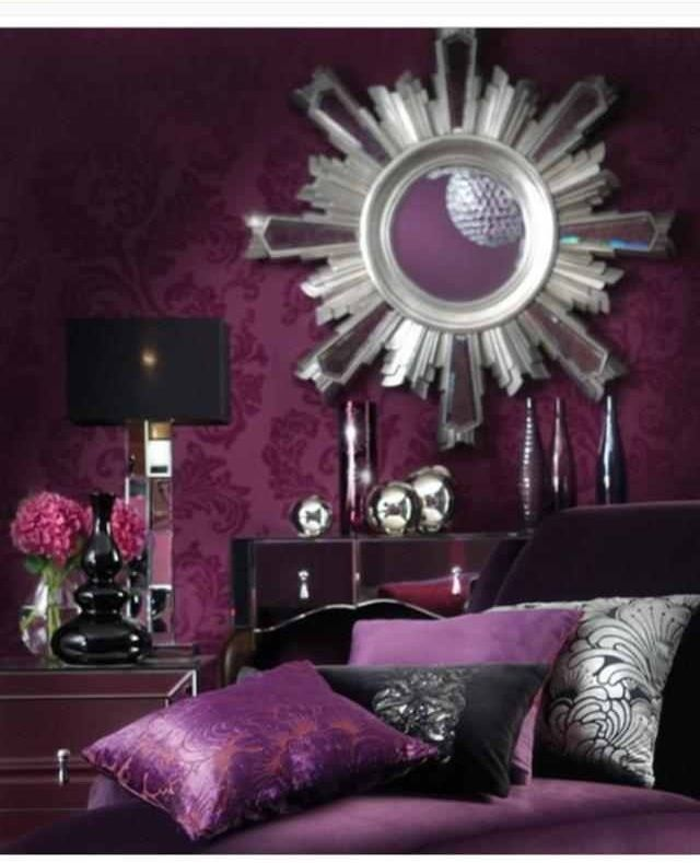 Silver And Purple Bedroom Ideas Part - 21: Purple And Silver Decor