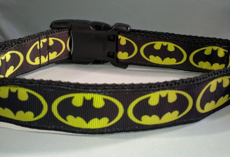 Batman Dog Collar - Bat Dog dog collar or leash FREE Shipping by ThePawMaster on Etsy