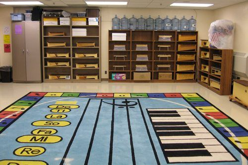 Modern Classroom Rug : Music classroom shelves for xylophones design the