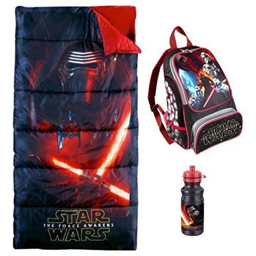 Star Wars The Force Awakens Sleeping Bag Backpack  Kylo Ren Water Bottle ** Be sure to check out this awesome product.