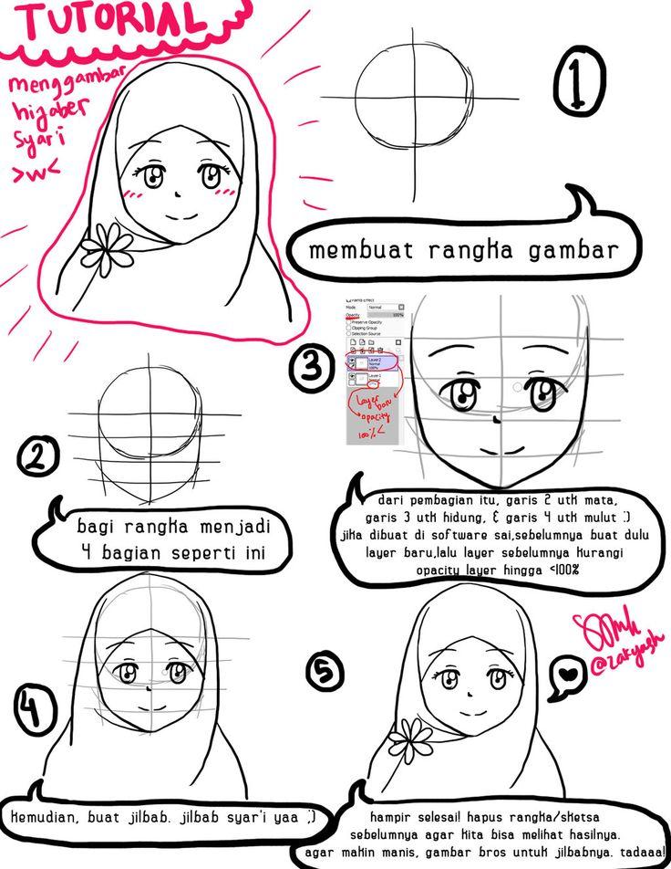 Drawing Hijaber Manga Tutorial by zakyash