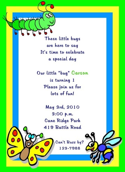 Bug Party Invitation Bug Party Pinterest – Insect Birthday Invitations