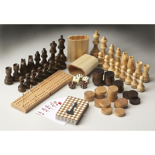 Carved Wood Game Pieces Butler Specialty Company Miscellaneous Home Accessories Home Decor
