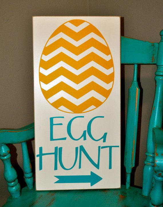 Darling Spring Easter Egg Hunt Sign!   This one measures 12x24, but there are also 11x14 and 8x10 available.   http://www.etsy.com/listing/180767696/darling-spring-easter-egg-hunt-sign-12