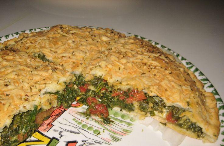 Torta Salata di Spinaci - Italiaans gevuld brood - vegetarisch voorgerecht - hoofdgerecht