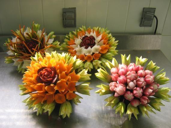 food garnish ideas | carrot flowers