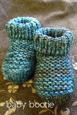 Patucos 2 agujas / knitted booties
