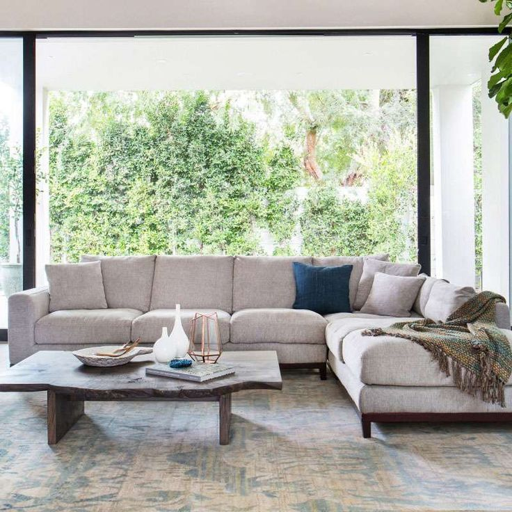 Living Room Comfortable White Sectional Sofa For Elegant: Clean And Precise, The Kellan Sectional Is An