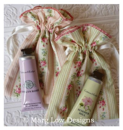 Gift idea - Little drawsting bags with hand cream