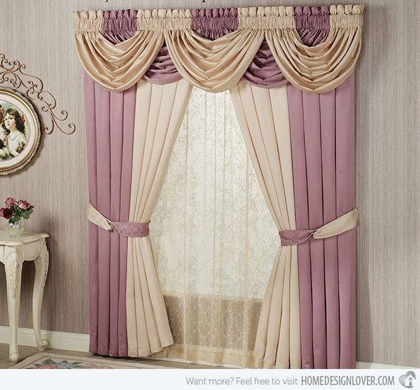15 different valance designs style classic and search for Modelos de cortinas para dormitorios