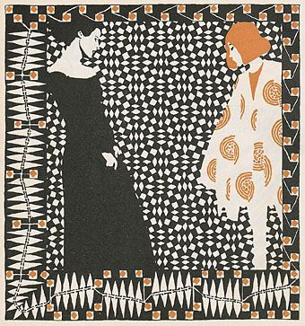 Early spring. Illustration to a poem by Rainer Maria Rilke by Koloman Moser, 1902.