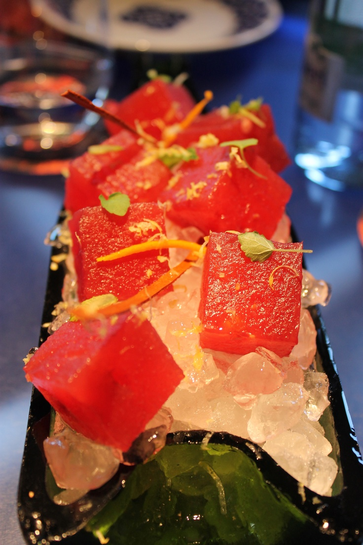 Molecular watermelon - Ferran Adria restaurant ...