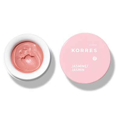Korres lip balm.    This stuff is amazing.  Use with a good lip brush,  not your finger.  It looks like lipstick when applied  and it's very moisturizing.