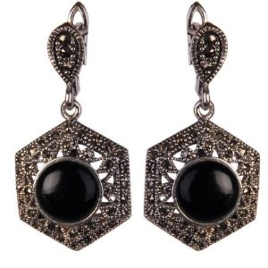 Drop-earrings Silver and Onyx Jewelry 1.25 Inches (Jewelry)  http://howtogetfaster.co.uk/jenks.php?p=B001MW4ZT2  B001MW4ZT2